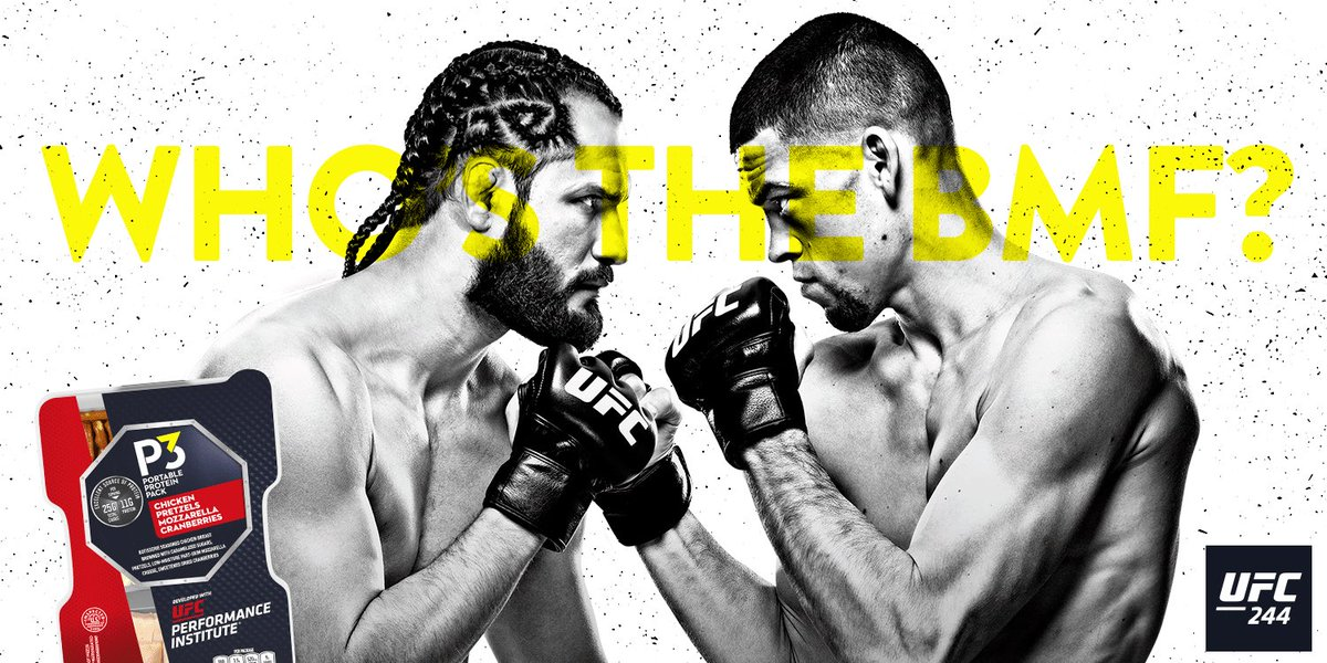 From street fights to the biggest stage in the world, two of the best enter the @UFC Octagon for the BMF belt. A once in a lifetime battle. Will it be @GamebredFighter or @NateDiaz209 who wins bragging rights at #UFC244? https://t.co/iQHJQ090OW