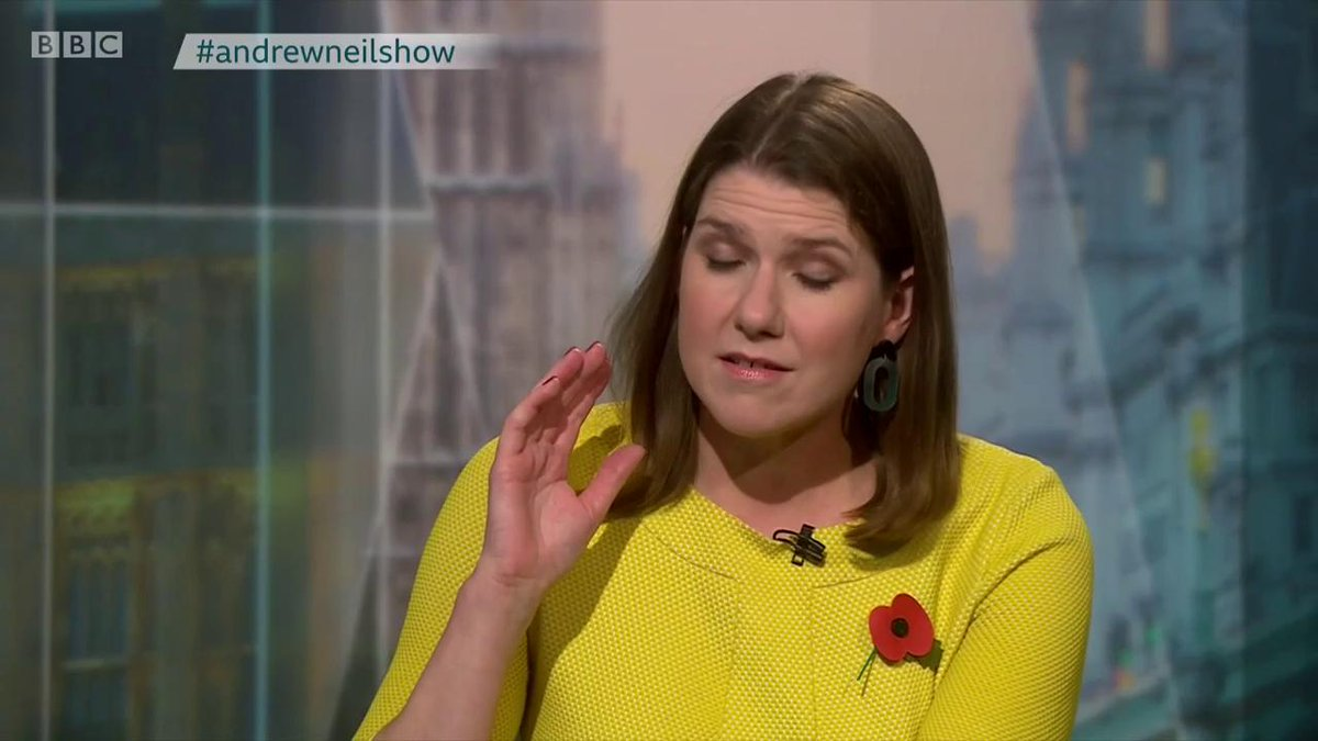 """""""When did you indulge in fantasy politics?""""  Lib Dem leader @joswinson speaks to @afneil about becoming the UK's next Prime Minister  #andrewneilshow"""