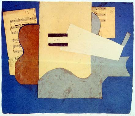 Guitar and sheet of music, 1912 #pablopicasso #syntheticcubism <br>http://pic.twitter.com/7Pp0OH6YH2