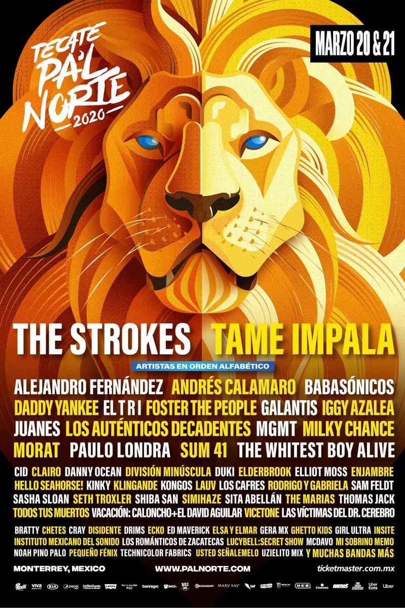@tameimpala // @TecatePalNorte 🧡 Monterrey, Mexico on March 20 & 21 // palnorte.com.mx