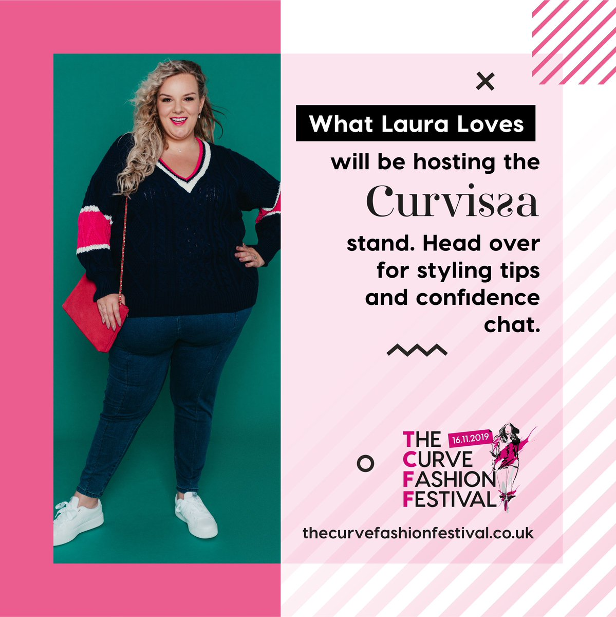The lovely @whatlauraloves is back hosting the @Curvissa stand at #TCFF19 - have you got your tickets yet? 💕 https://t.co/EysVIbwa7y