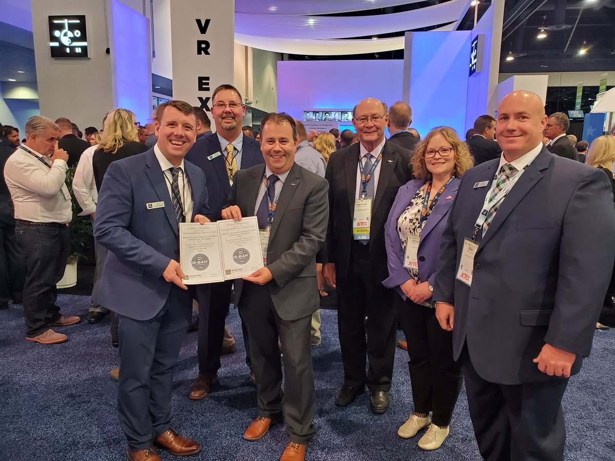 We are extremely excited to announce that our Battle Creek & Kalamazoo FBOs have received Stage I Accreditation from the International Standard for Business Aircraft Handling (IS-BAH)! Read more: bit.ly/322kxrA #DuncanAviation #BizAv #Aviation