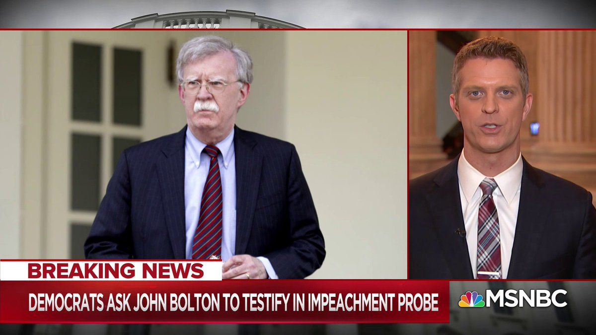 BREAKING NEWS: Three sources tell our Capitol Hill team... that John Bolton has been invited to give his deposition next Thursday - @GarrettHaake w/ @NicolleDWallace