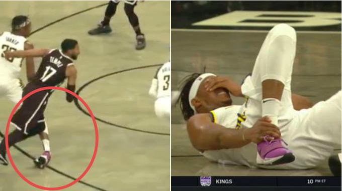 【影片】看著都疼!阻攻王Turner小腿被撞導致腳踝彎折,痛苦倒地被攙扶下場!