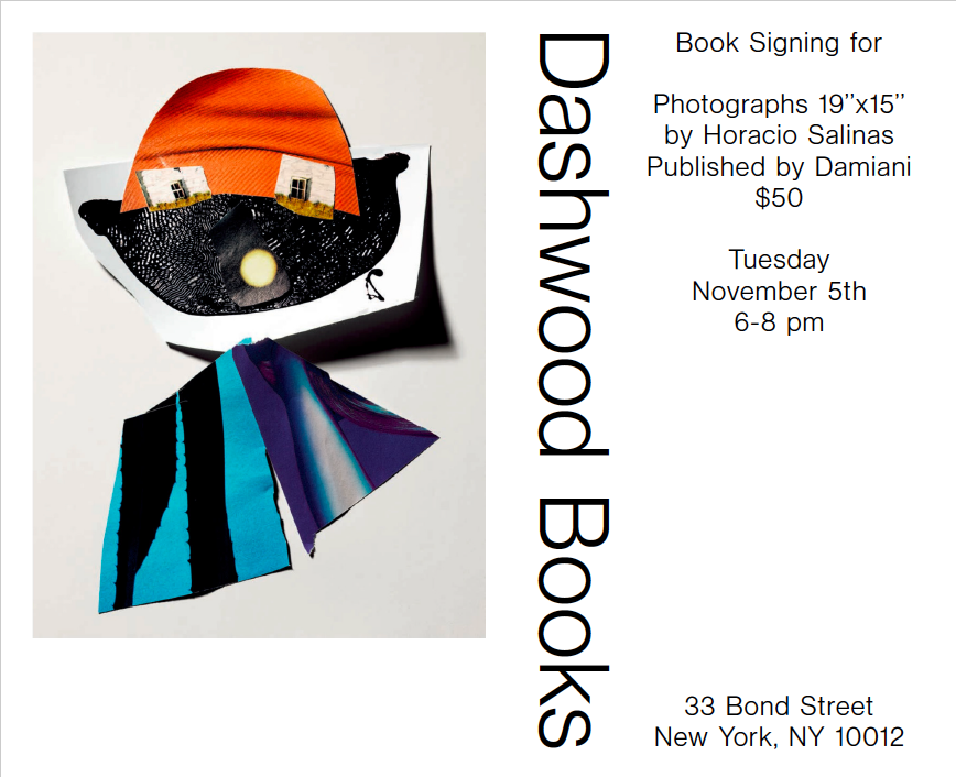Please join us on Tuesday November 5th from 6-8 pm for a book signing with Horacio Salinas.