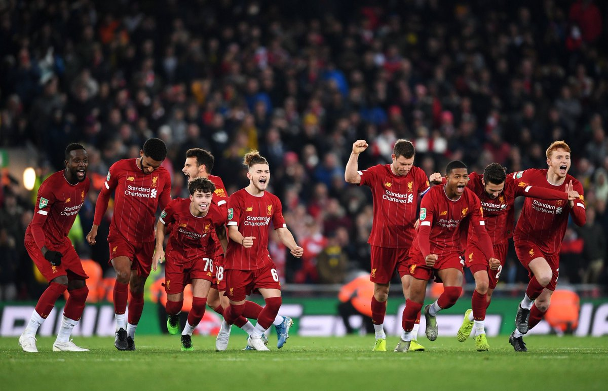 So happy for the lads tonight especially the academy boys. What a comeback and showed great bottle on the pens! 🔴 #YNWA