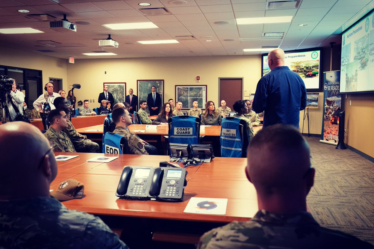 Received a briefing at the Emergency Operations Center @teamcharleston on the global missions carried out from this base & learned more about their capabilities in providing air, ground, and sea support wherever they are needed. We will continue supporting our military 100%