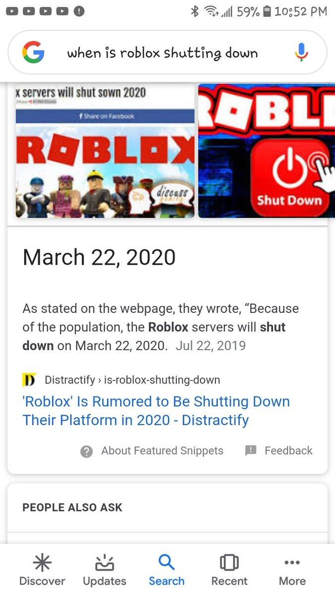 Robloxshuttingdowntrueornot Hashtag On Twitter