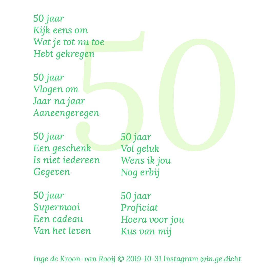 Fonkelnieuw Gedicht Sarah 50 Jaar XD-01