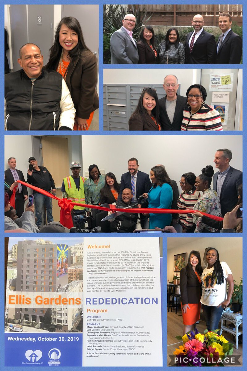Truly inspired by #EllisGardens residents like Luis, #SanFrancisco Mayor @LondonBreed, Supervisor @MattHaneySF, @TNDC CEO @DonaldFalk, @GLIDE & team at today's celebration! @BankofAmerica proud to support #SFRAD w/ historic $2.2B commitment to transform public #affordablehousing