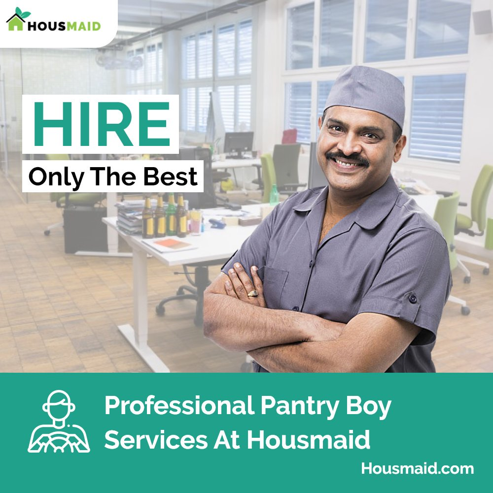 Experience world-class Pantry boy services with #Housmaid. Explore the technology-driven domestic help solutions for your workplaces as well as your home in simple steps. amazing experience. Hire Now: https://t.co/ozvS9w6iNx #Housmaid #Pantryboy #professionalservices https://t.co/2G9LlUYCKf