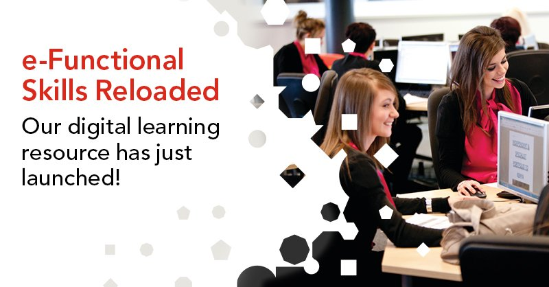 Digital learning resources are so important. That's why we've developed e-Functional Skills Reloaded, our digital learning platform. Find out more direc.to/cqcw #funskills2019 #efunctionalskills #digitallearning #mathsandenglish