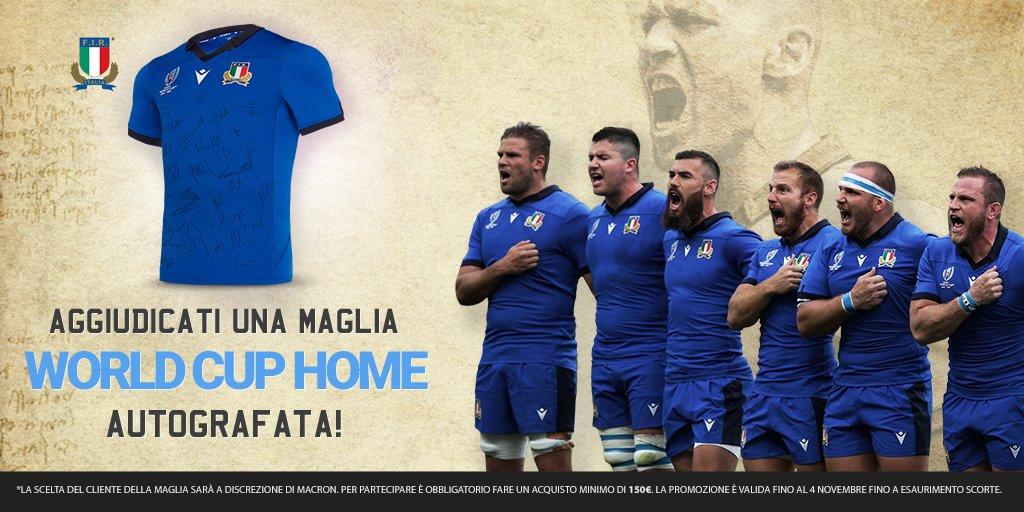 👕 Sai che potresti vincere una maglia autografata da #Italrugby? ❗ Acquista subito sul nostro e-shop, hai tempo fino al 4 novembre ➡ tinyurl.com/yyhxf848 #insieme #rugbypassioneitaliana @MacronSports