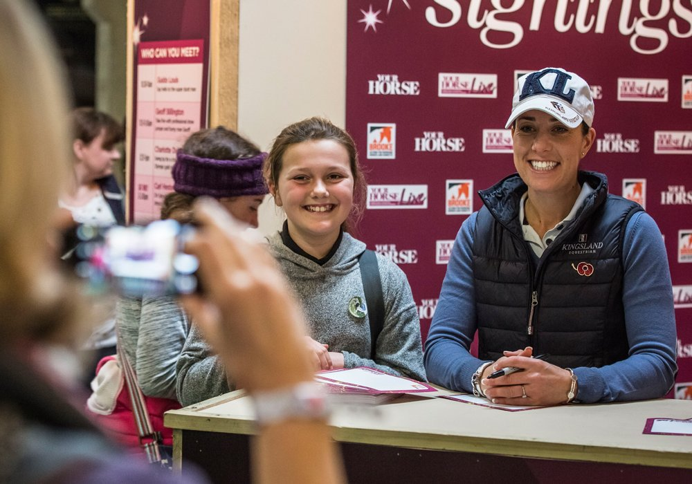 The celebrity signings area is always a hot spot at YHL...@CSJDujardin  @GeoffBillington , @SirLeePearson , @JontyEventing @IrishEventer will all be there so make sure you pop by to get a selfie and signing! https://t.co/L5MnANkVCc…/timetabl…/celeb-signings-timetable https://t.co/As4Q7IRiZ7