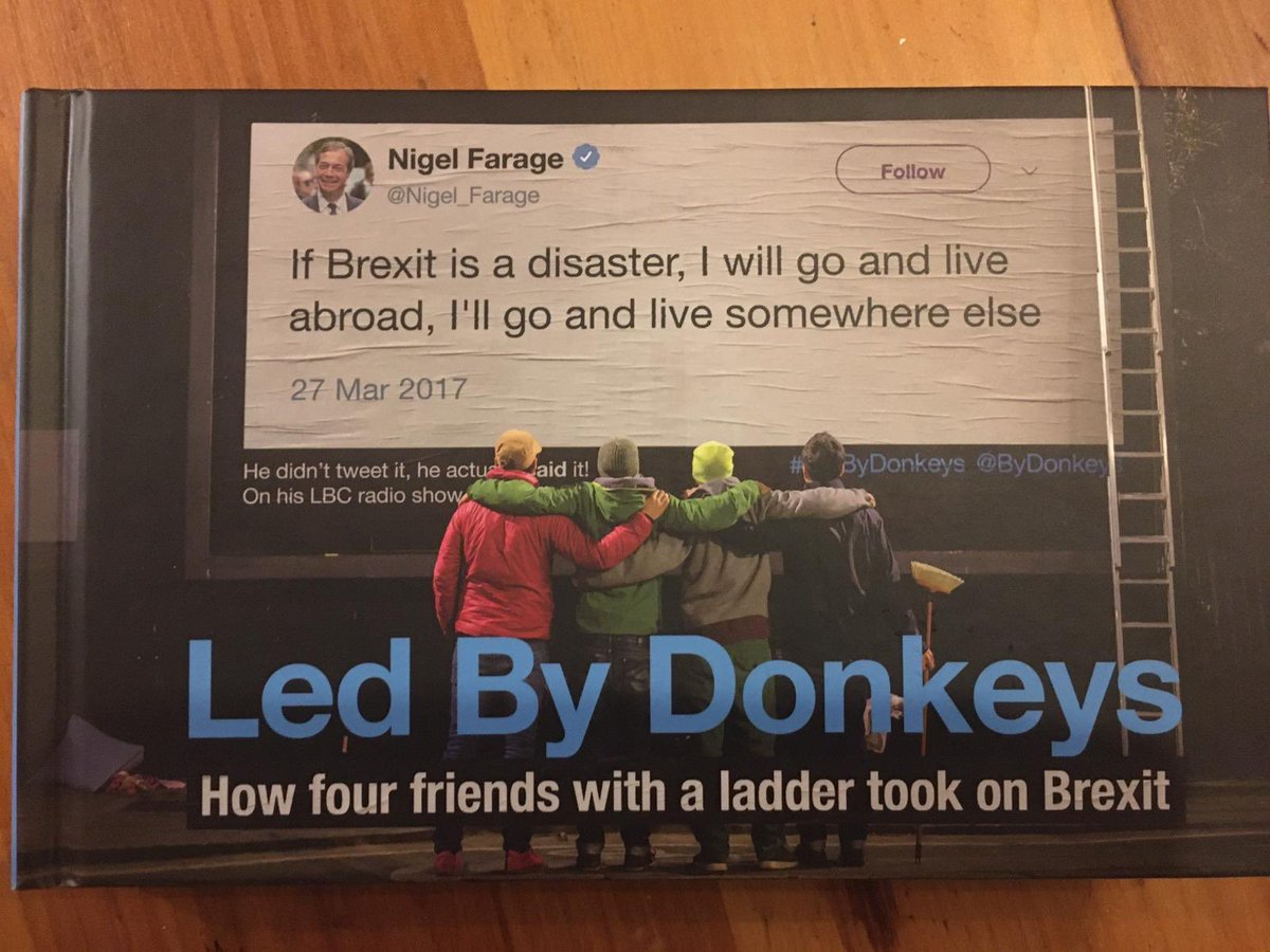 Happy Not Brexit Day! Celebrate by getting your hands on the @ByDonkeys book (released today) in which we relate how we were once forced to put up a @Jacob_Rees_Mogg poster with diluted dog turd >>> hyperurl.co/LedByDonkeys