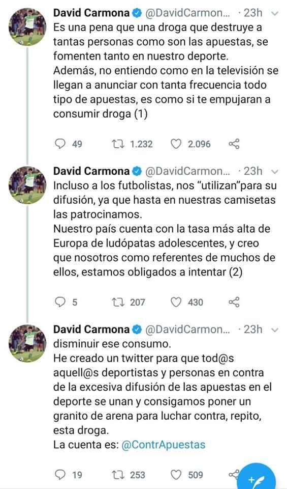 Tweet David Carmona