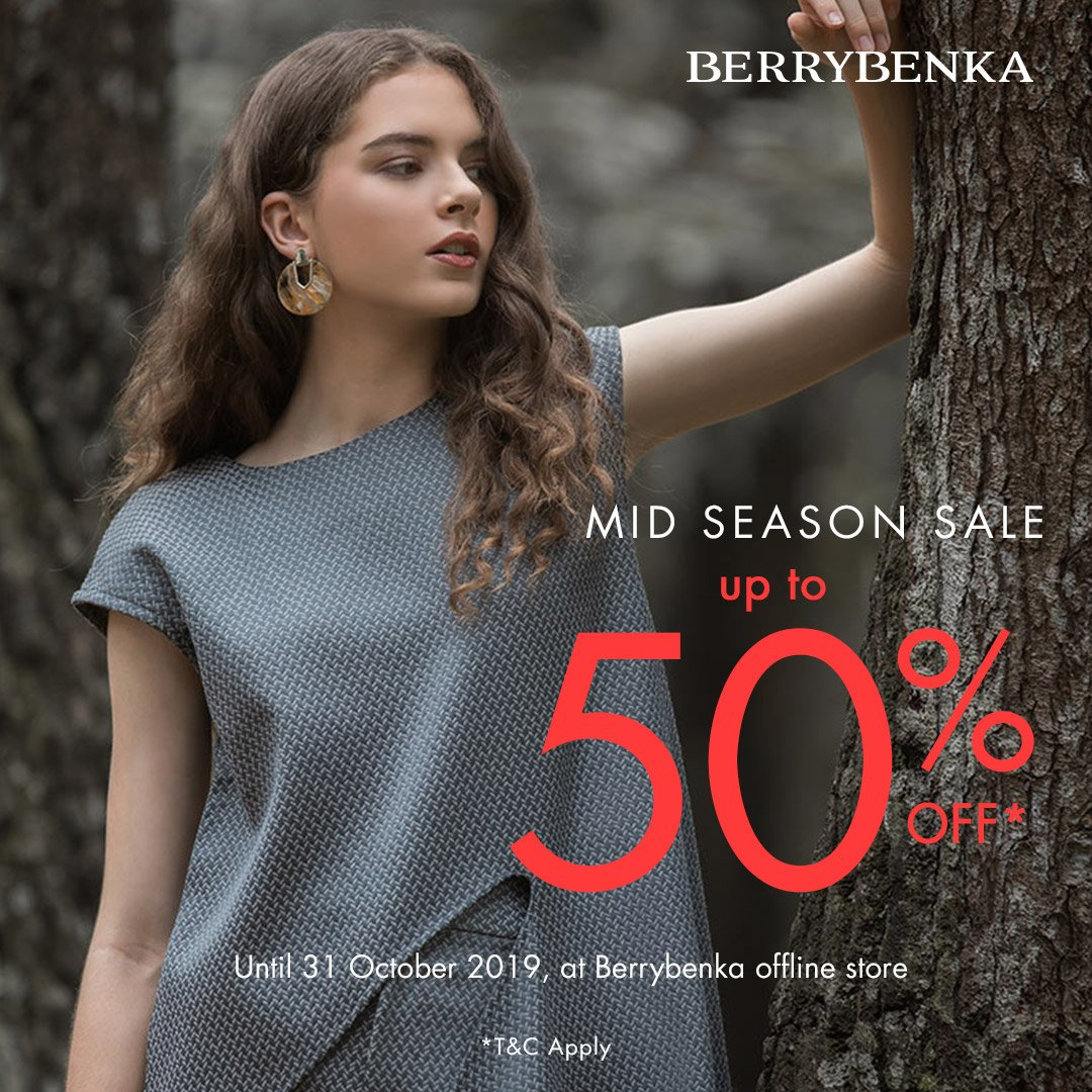 Mid Season sale from @Berrybenka  Get discount up to 50%off until 31 October 2019. Fill up your closet with quality product in special price! Visit Berrybenka Store at 1st Floor, Kota Kasablanka Happy shopping!  #KotaKasablanka #Berrybenka https://t.co/BPAo4TYujJ