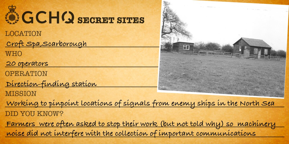 We recently lifted the lid on some previously secretive sites up and down the UK to provide a glimpse into the history of signals intelligence at GCHQ  The first of which was Croft Spa in Scarborough ⬇️ https://t.co/PpgPooEw6k