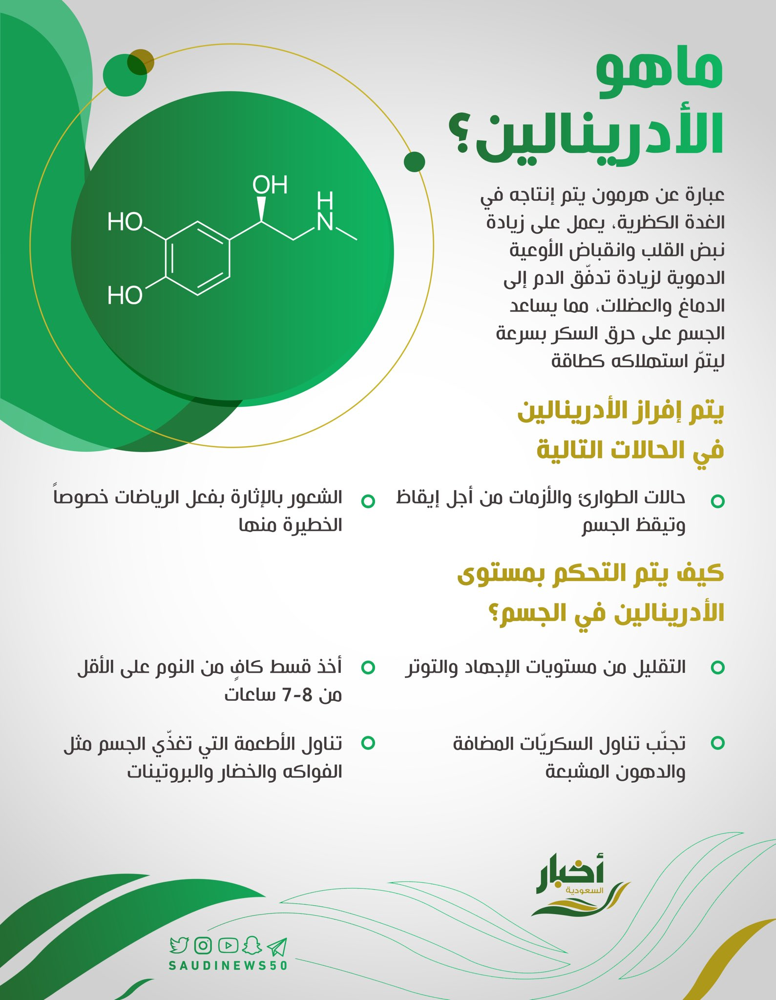 أخبار السعودية En Twitter تعرف على هرمون الأدرينالين الصحة الأدرينالين