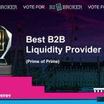 Image for the Tweet beginning: 📣 B2Broker has been nominated