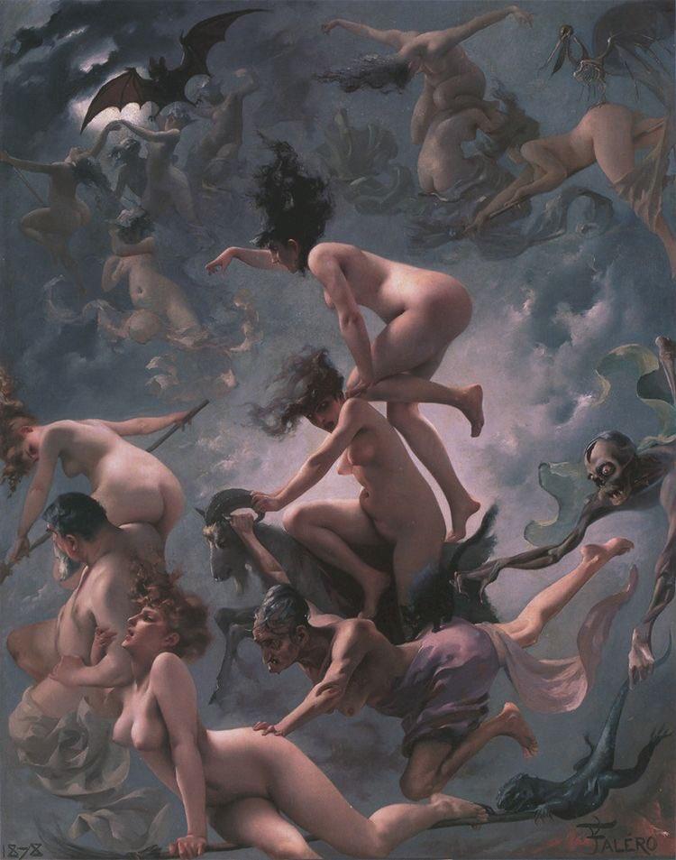 """""""Witches going to their Sabbath"""" (1878), by Luis Ricardo Falero"""