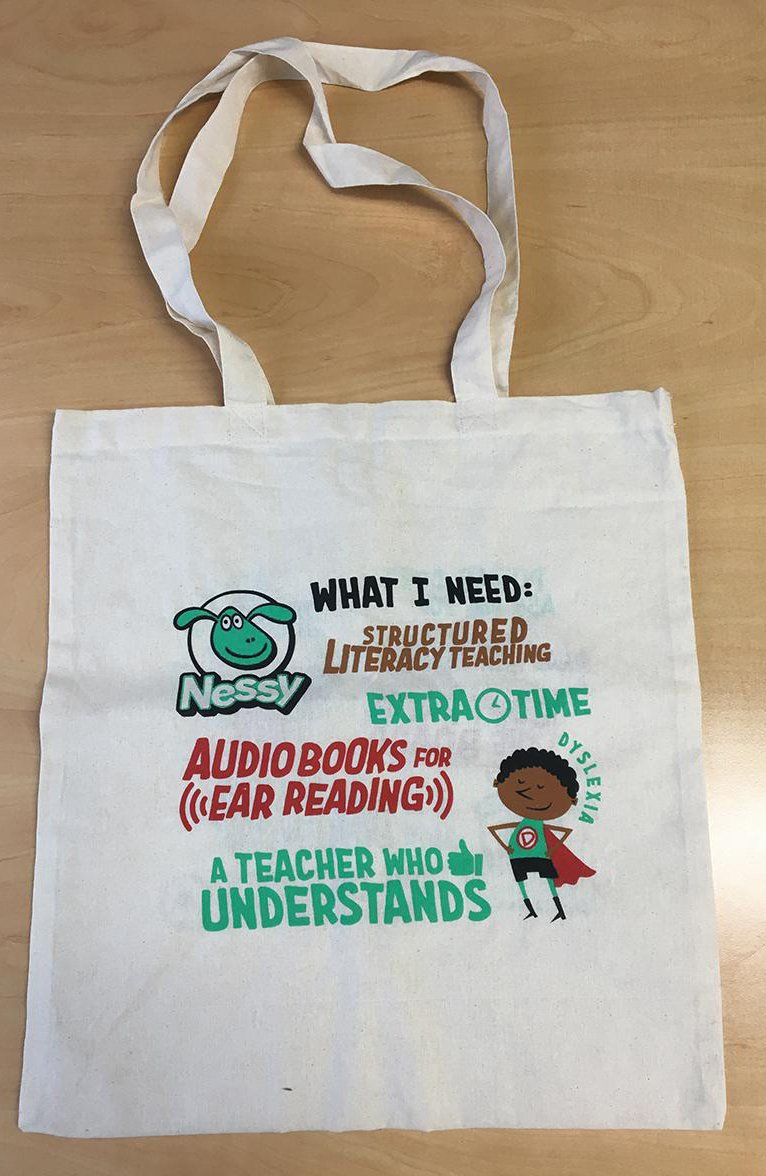 Mrs Curtis on Twitter: I love this and the illustrations are amazing, I've been so lucky to receive one which I am proudly using at work, it's currently housing my lap top ! Can't wait till Monday to show the children @BostonStNic  They will be so proud to see the bag after our #GoGreenForDyslexia day…