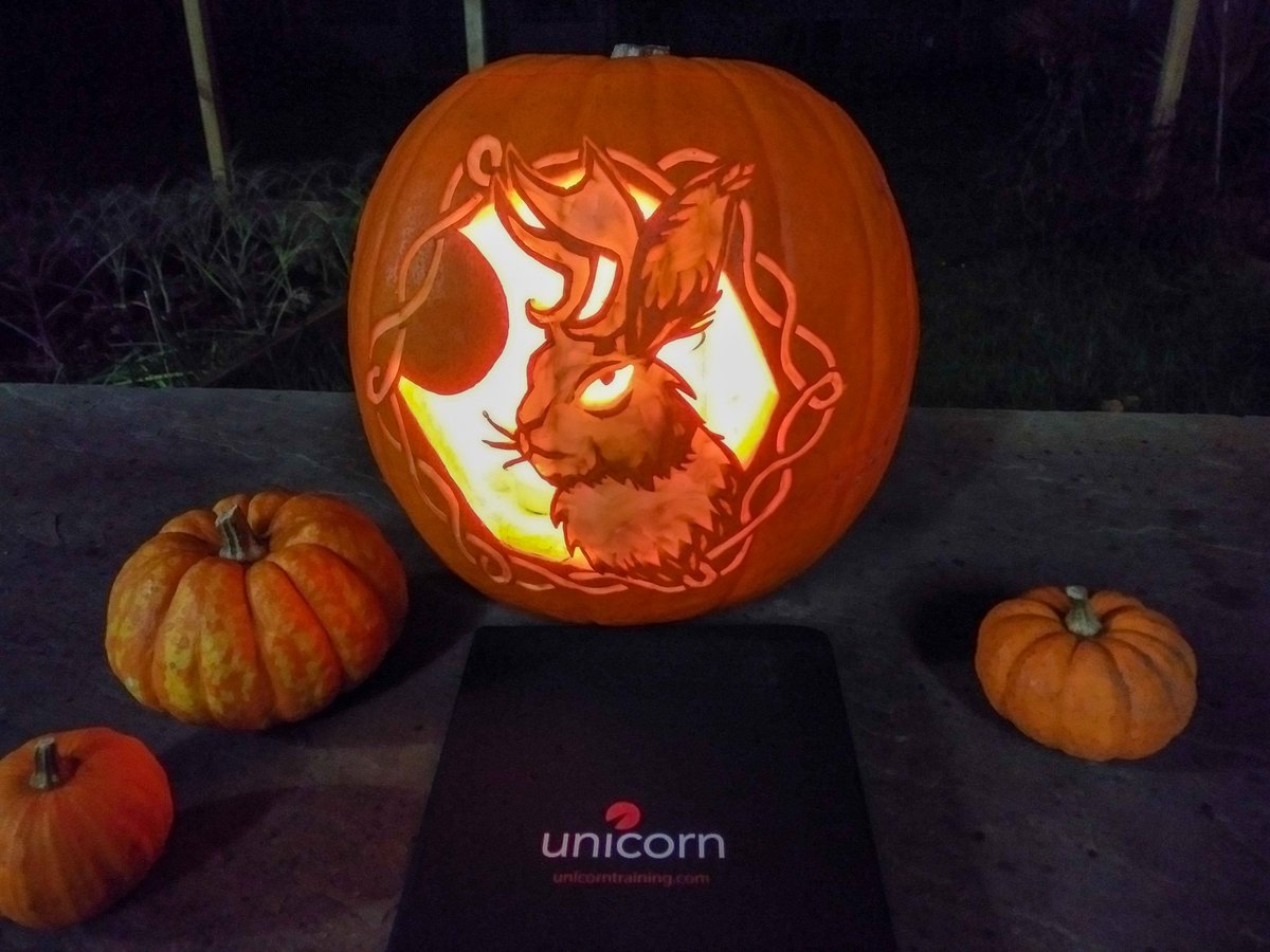 Unicorn Training On Twitter Our Friends At The Famous Jasper S Pumpkin Carve Are Holding Another Competition And This Is Our Entry From Lucy Tomkins An Amazing Jackalope Jack O Lantern
