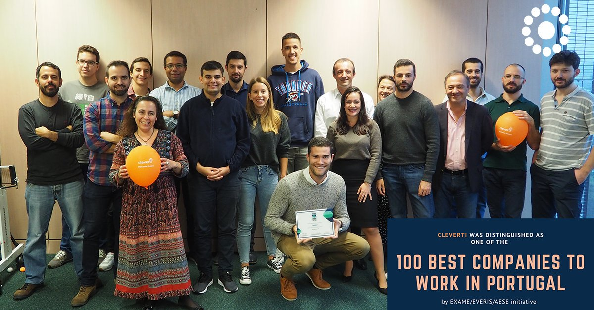 We are proud to announce Cleverti was elected as one of the #100bestcompaniestoworkinPortugal and also distinguished as one of the top 3 software development consultancies!  #cleverti #softwaredevelopment #softwaretesting #nearshore #awardwinners #programminglife #coding<br>http://pic.twitter.com/dQvltbTYX8