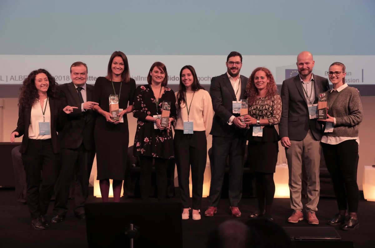 Last week @EU_Growth awarded the winners 🏆 of the #DiogoChallenge competition - @MIWAeu, SpraySafe & @VEnvirotech! And the Impact Prize went to MTOP! Get to know the projects and learn how they are challenging #plasticwaste ➡️ eusic.challenges.org/semi-finalists/