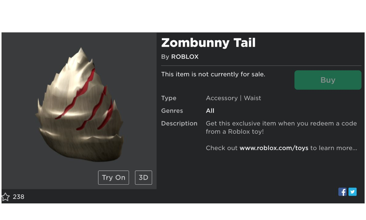 Lilygiveaways On Twitter If You Like This Zombie Tail - try the catalog roblox