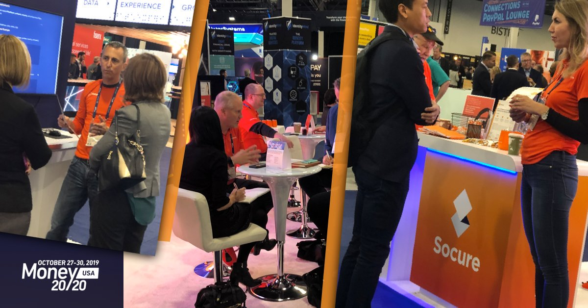 And it's a wrap! Thank you, everyone, who stopped by our booth @money202020. It was great to chat with everyone - if you happen to have missed us contact us & we'd be happy to schedule a meeting with you:https://hubs.ly/H0lz4c50 #ZeroFraud #Socure #M2020USA #IdentityVerificationpic.twitter.com/Ep9gTXNIkZ
