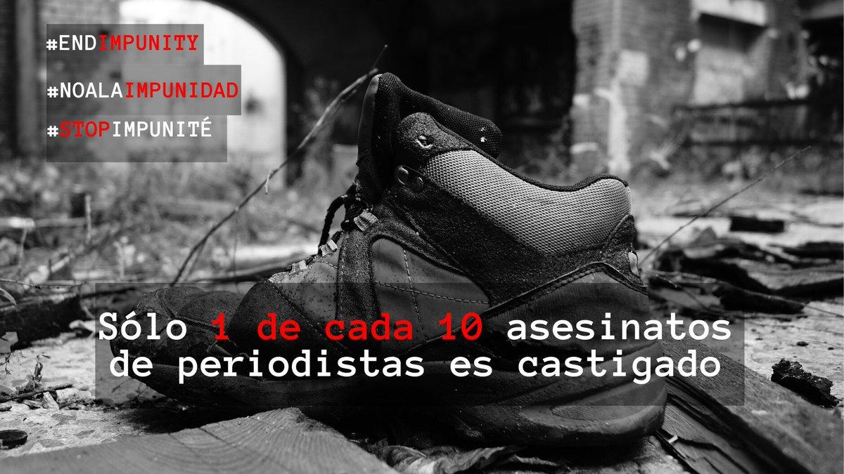 @NUSOJofficial @NUJofficial @ifjasiapacific @UNESCO @EFJEUROPE @Reuters @AP @Stommedia @withMEAA @pressgazette @abellanger49 @ajpjournalistes @phillochar @AFP @SNJ_national @SnjCgt @TunisieSnjt @USJCFDT @lesoir Lanzamos hoy una campaña de tres semanas contra la impunidad de los crímenes contra periodistas con cinco países como objetivo: #Ucrania🇺🇦, #Filipinas🇵🇭#Perú🇵🇪#Somalia🇸🇴y #Palestina🇵🇸 ¡Únete a la campaña y exige justicia! 💪👉bit.ly/36i9iPr #NoALaImpunidad #IDEI