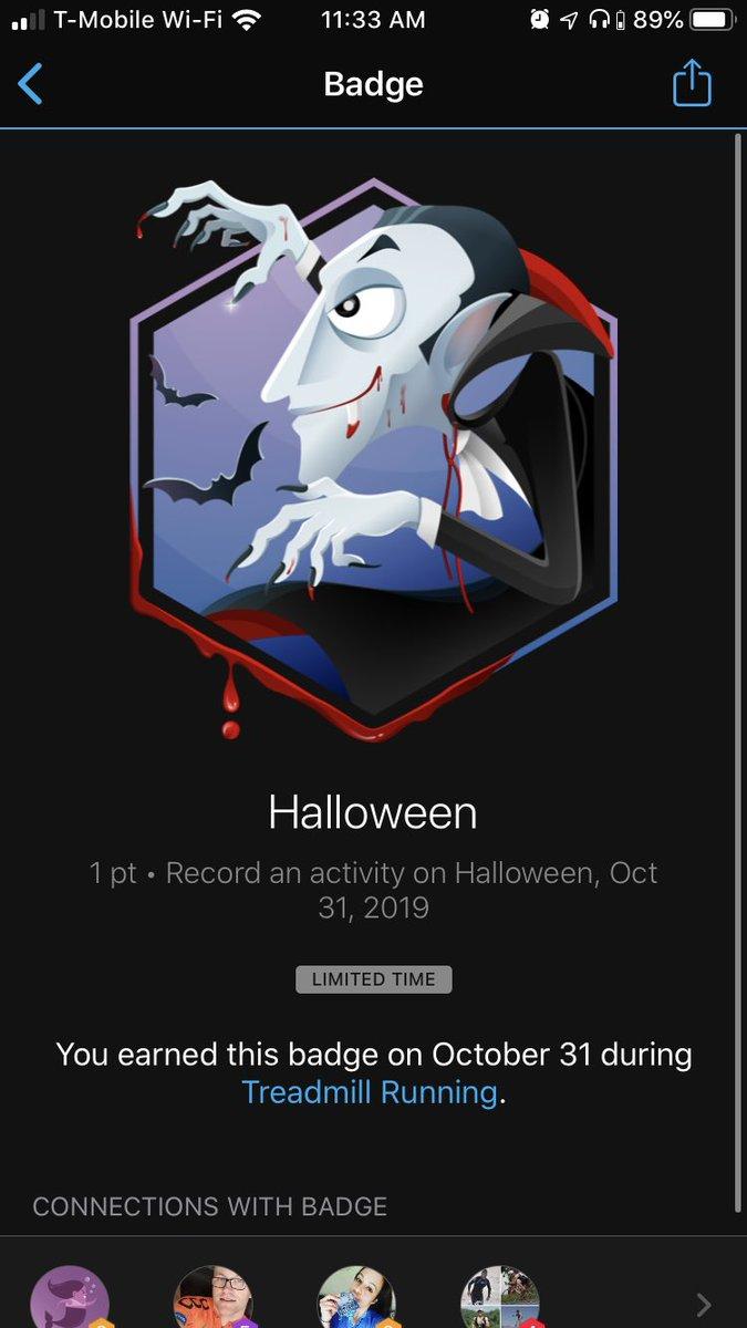 So many Halloween badges!!! I hit over 90 miles this month, too! 485.83/700 #plowon #irun4shelby #irun4lucy #irun4johnya #irun4seb #irun4sarah #bamr #bibchat #bibravepro #nuunlove #nuunlife #oofos #orangemud #nuunambassador2019<br>http://pic.twitter.com/K0fCROi0N5