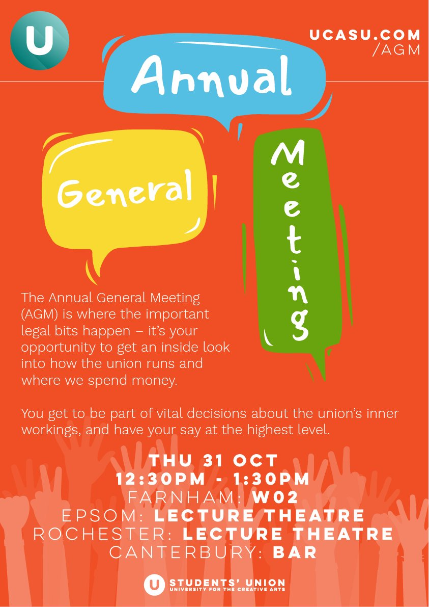 test Twitter Media - Our AGM takes place today @ 12:30pm. See the poster for room details.  Come have your say on motions such as: Should the SU declare a climate emergency? or Should the SU have a referendum on their NUS affiliation? https://t.co/qihdKir17V