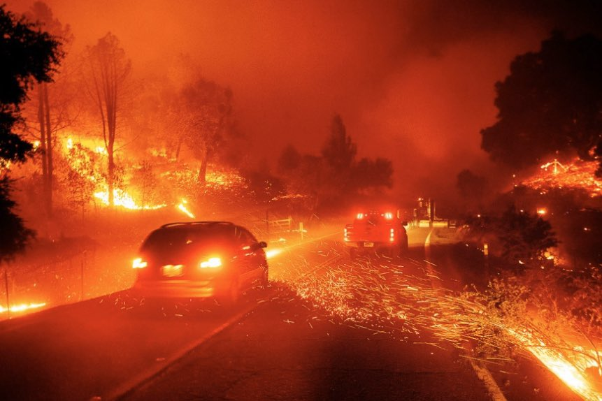 Just praying for our friends in California isn't enough (any more than praying for people in school shootings). It's time to demand climate action now!