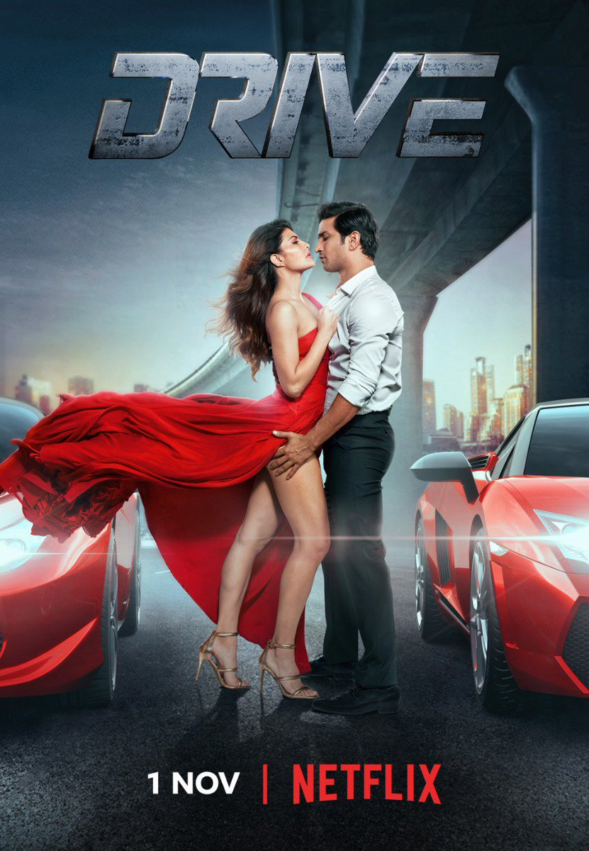 Partners in crime and style! #Drive coming to your #Netflix screens TOMORROW!😎💃  @karanjohar @apoorvamehta18 @itsSSR @Asli_Jacqueline @VikramjeetVirk @SapnaPabbi @bomanirani @TripathiiPankaj @DharmaMovies @NetflixIndia @ZeeMusicCompany