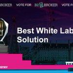 Image for the Tweet beginning: 🔊 B2Broker has been nominated