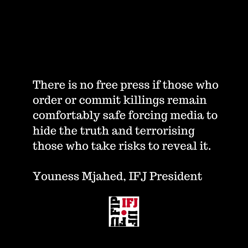 A word from our president in the International Day to End Impunity for Crimes Against Journalists 👇 #PressFreedom #IDEI #IDEI2019