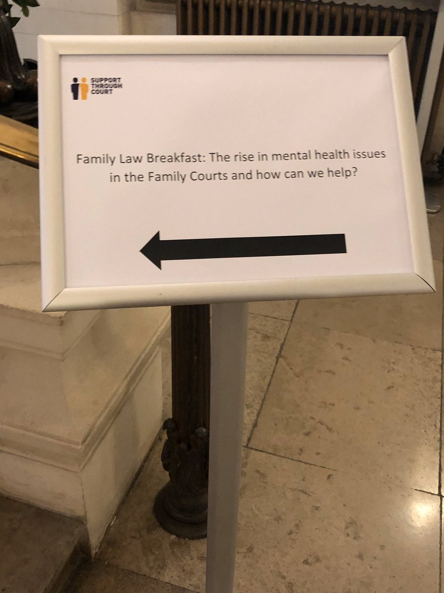 Interesting event this morning @TheLawSociety @simonbrucelfc for @SupportTCourt on the rise in mental health issues in the Family Courts. Great to hear from the President, @GillianFLiP, Claire Heppenstall @1GCFamilyLaw and Jane Mahon with their thoughts. #FLB2019 https://t.co/CkgQzocZuW