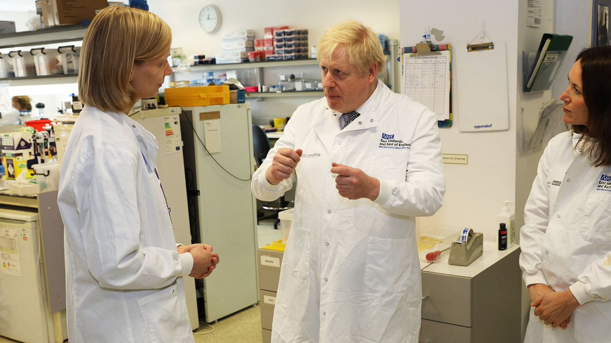"""""""The NHS has been there for all of us. We're investing more than ever before so it can provide world-class care."""" – PM @BorisJohnson at Addenbrooke's hospital @CUH_NHS today"""