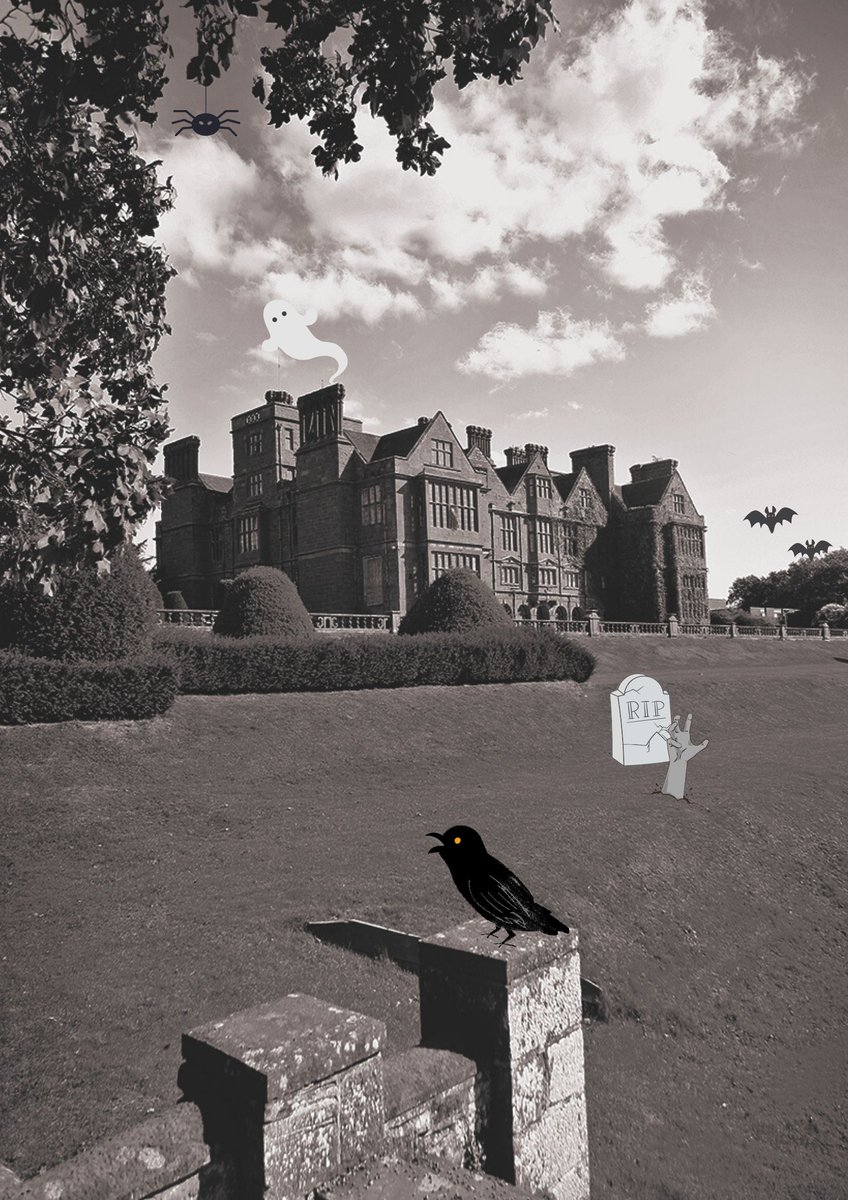 Happy Halloween 🎃  Rumours say Condover Hall is haunted, but of course, these are just rumours...  Still, can you spot the spider, the ghost and the bats around the Hall?   #halloween #spooky #happyhalloween https://t.co/jJ0kXLFQKO