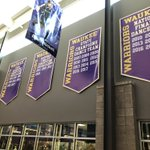 Image for the Tweet beginning: New banners being hung in
