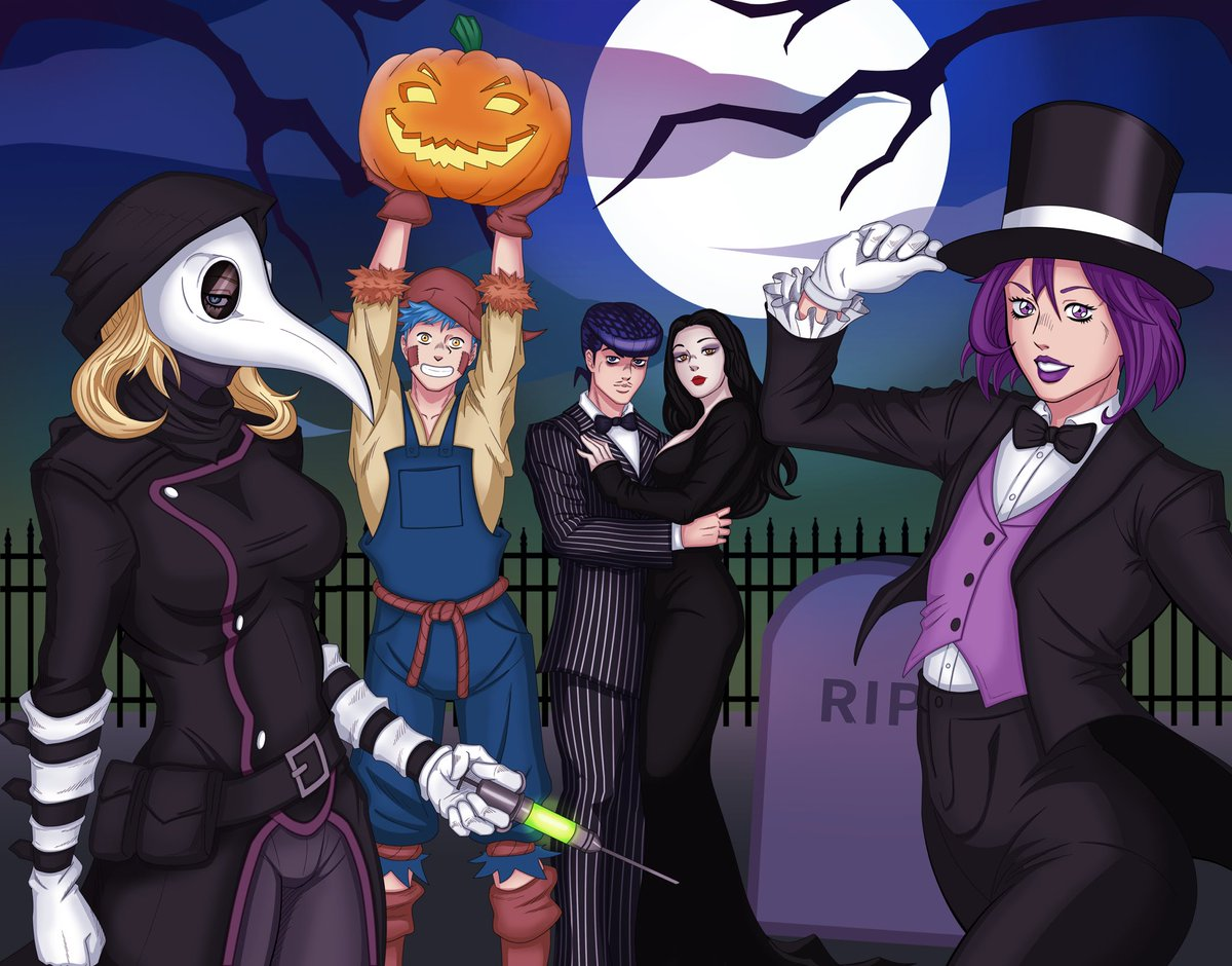 Shizuka Joestar Project On Twitter Happy Halloween From The Fading Lights Staff Halloween Piece Made By Henryaung97