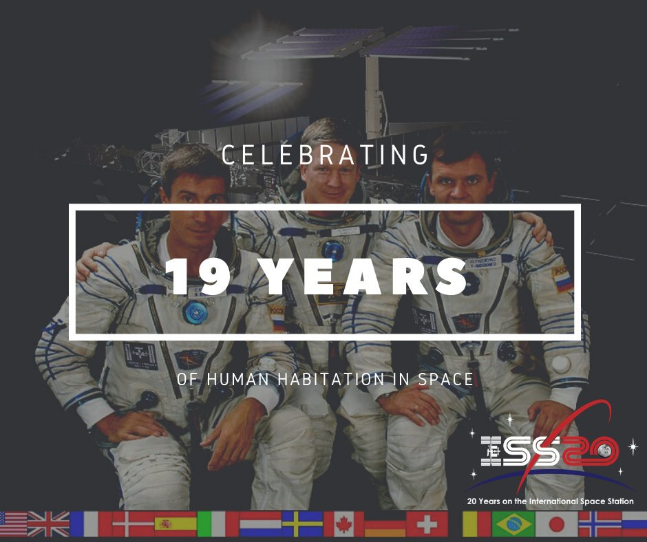 Today in 2000, the Expedition 1 crew launched to the space station, arriving two days later. 🚀 That means if you are 19 or younger, you have never lived a day without humans in space! Join us as we begin celebrating the #SpaceStation20th anniversary: nasa.gov/feature/nasa-c…