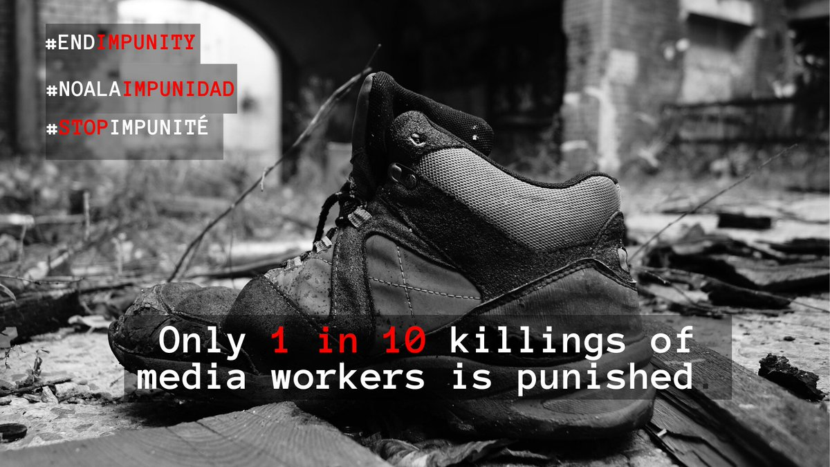 Ahead of #IDEI IFJ launches a 3-week campaign targeting #Ukraine 🇺🇦, #Philippines 🇵🇭#Peru 🇵🇪#Somalia 🇸🇴#Palestine 🇵🇸 Join us to #EndImpunity for crimes against journalists ✊🏼💪🏾bit.ly/2WvMuqP