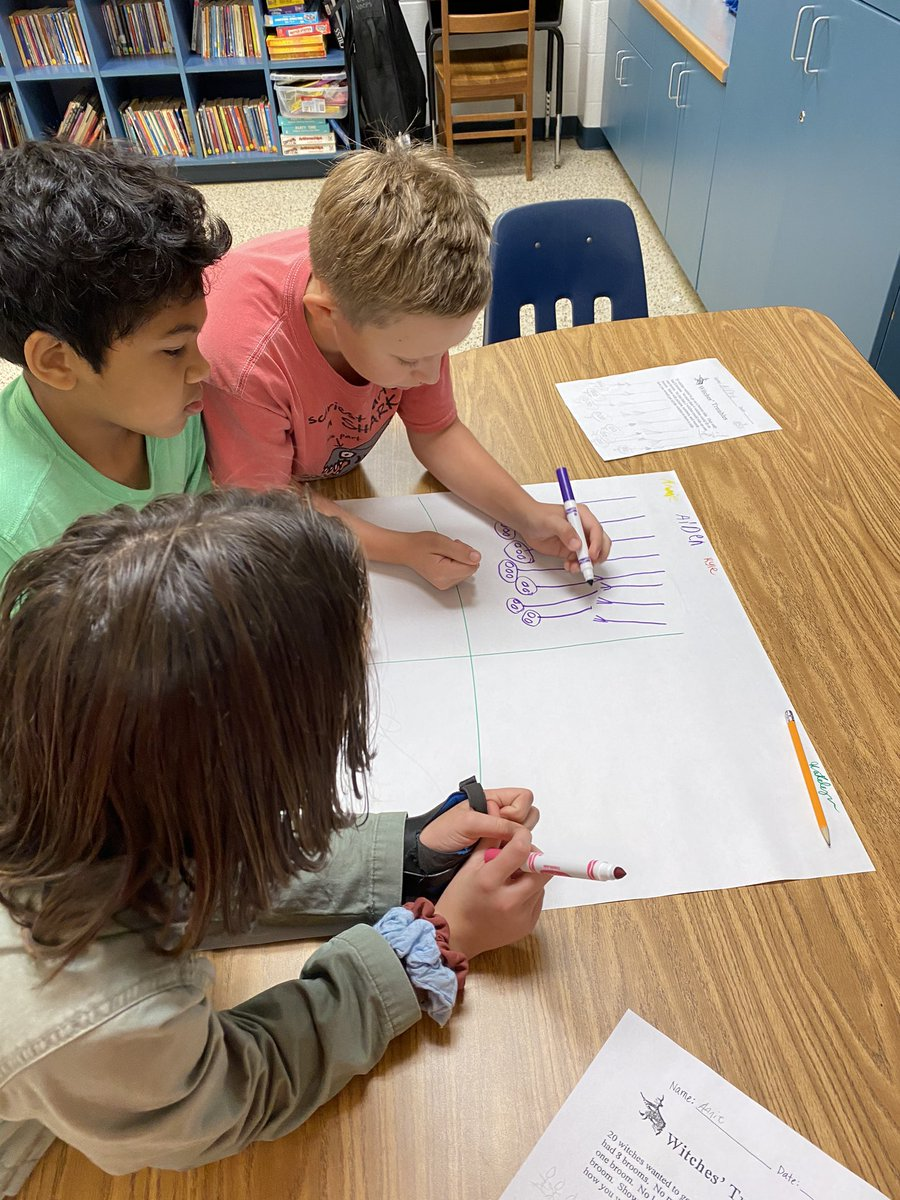 It might be Halloween, but our 5th graders are collaborating on a spooky math exemplar! @PESLauber #pembrokepride