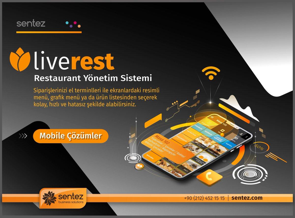 LiveREST Restaurant Yönetim programı ile şubelerinizin günlük satış ve kasa hareketlerini internet üzerinden online takip edebilir veya cep telefonunuza SMS olarak rapor alabilirsiniz.  #Sentez #Yazılım #Software #Restaurant #Mobil #Çözüm #Ortağınız #ERP #Live #Post #ElTerminali pic.twitter.com/zBnWAm2hf8