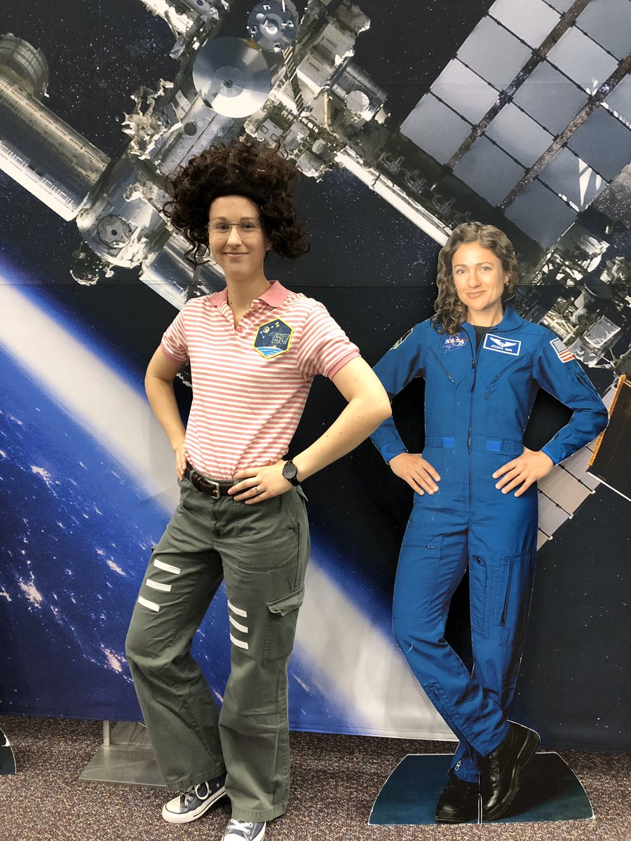 Some employee costumes really are out-of-this-world... @Astro_Christina and @Astro_Jessica, we think the microgravity resemblance is uncanny! 👩🚀👩🚀 #NASACostume