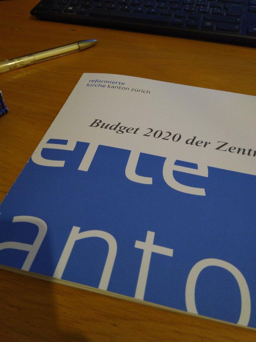 Beim Durchsehen des Budgets 2020 merkt man als neuer Synodaler auf einmal wie gross dieser Laden ist, für den man Mitverantwortung trägt.  #Synode @zhrefch