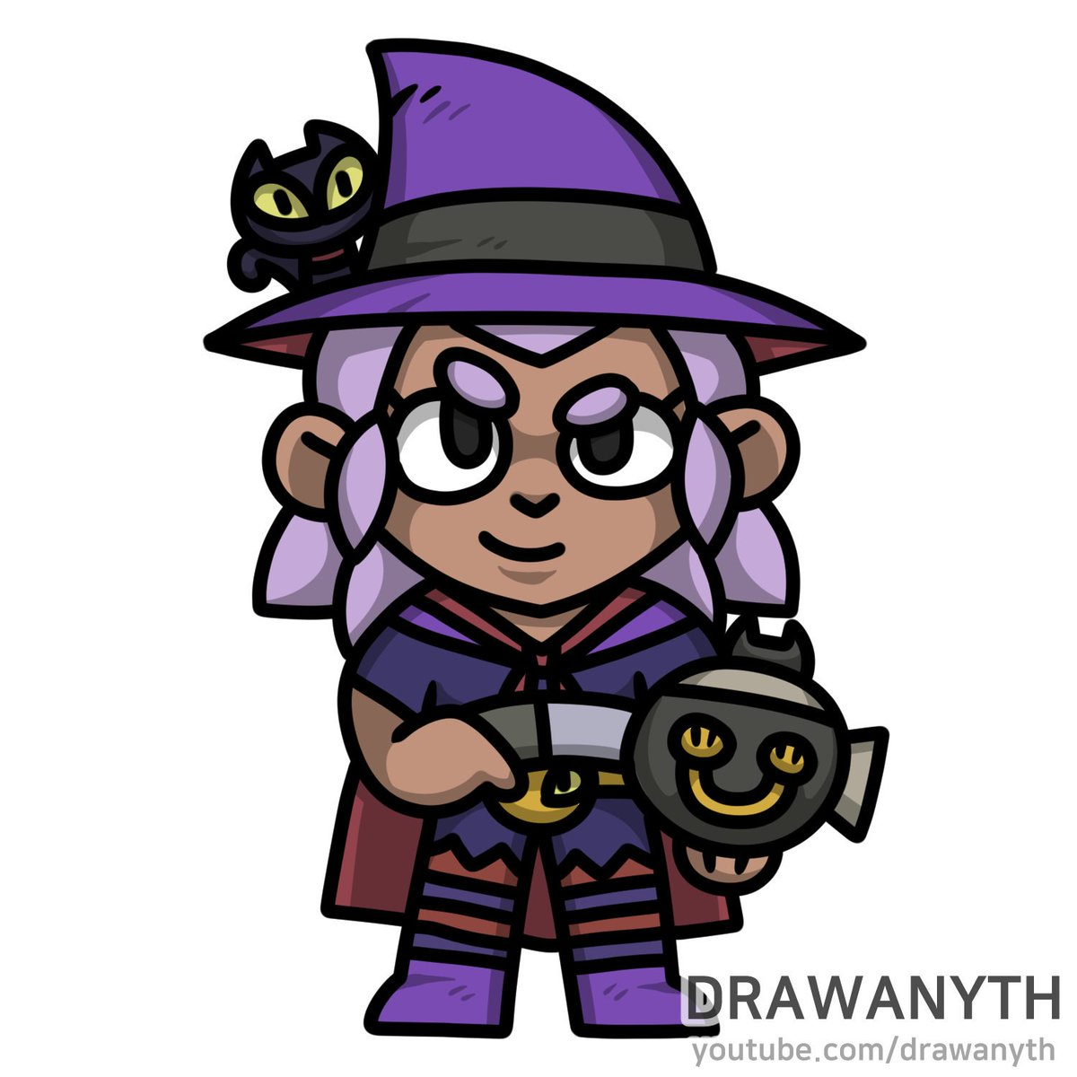 Drawany On Twitter How To Draw Witch Shelly Https T Co